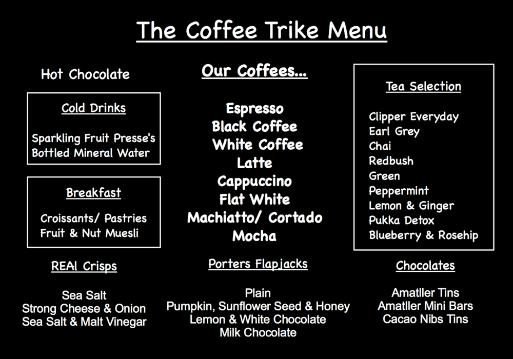 Coffee Trike Menu June 14